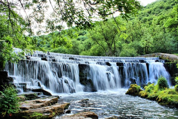Monsal Dale Falls, Derbyshire Peak District.