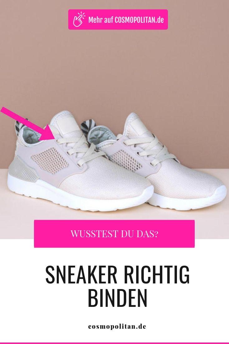 Sneaker richtig binden: Dieser kleine Trick verändert