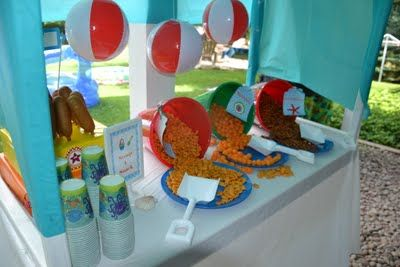 The Joys of Home Educating: Backyard Birthday Beach Bash...can't wait to have beach themed parties in Pendleton!