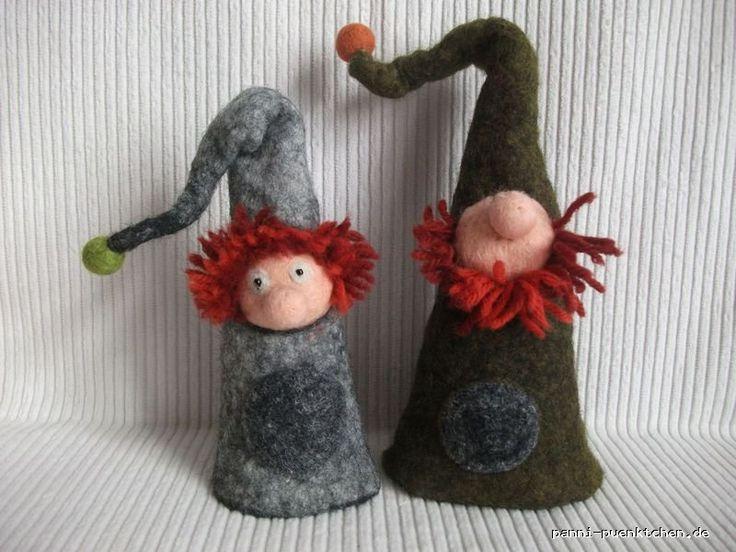 """Wichtel Zwerg """"Graugnom"""" Eierwärmer & Deko - Niedlicher kleiner Zwerg oder Wichtel, für die *Weihnachtsdeko*, als* Eierwärmer *oder den *Jahreszeitentisch*."""