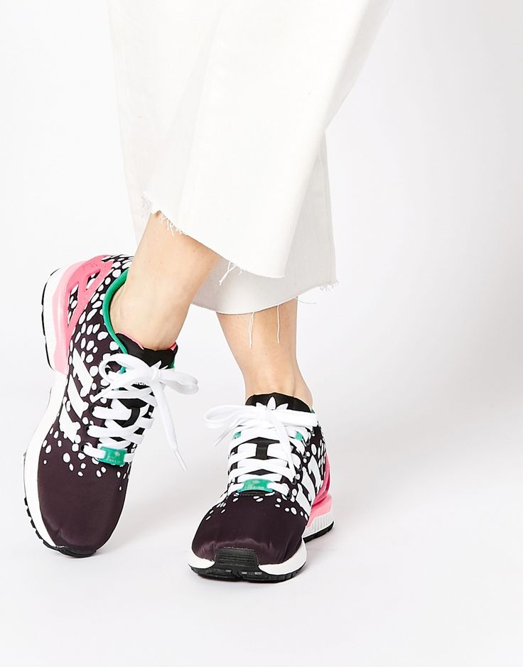 Image 1 of adidas Originals ZX Flux Multi Coloured Dot Trainers