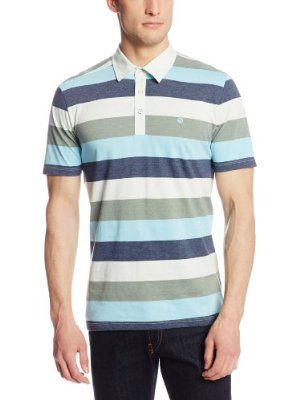 Volcom Men's Paco Stripe Polo Price:	$38.65 - $39.50 Features 60% Cotton/40% Polyester Machine Wash Slim fit polo Contrast twill neck taping Side seam flag label Stone embroidery at chest Silicone wash treatment