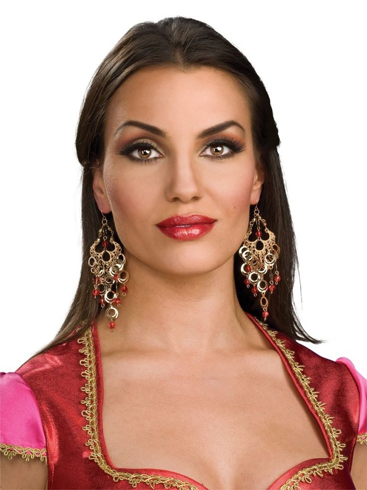Indian Bollywood Jeweled Costume Earrings