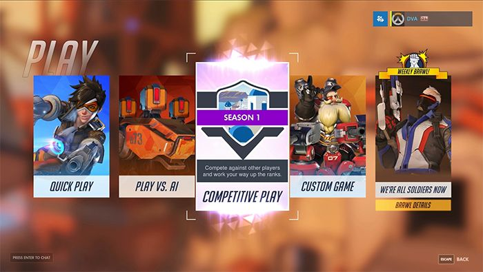 Overwatch Competitive Play is Live for PC!