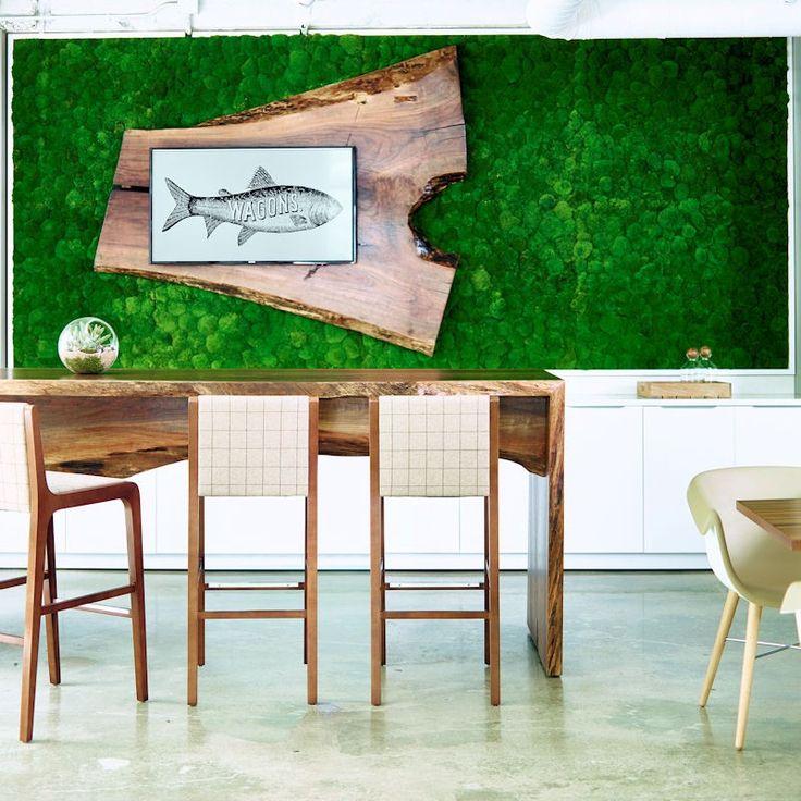 Moss 3D - zielona ściana z mchu