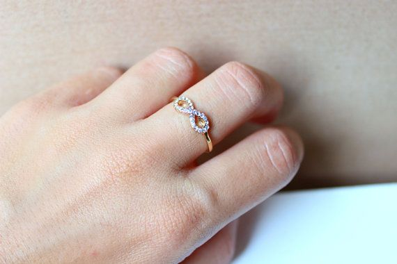 Infinity ring // Ring // Gold infinity ring // Forever ring // Love ring // Jewelry / Rings // Infinity // Jewelry for her // Little ring //