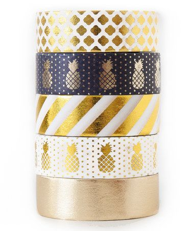 Love this Pineapple Party Washi Tape - Set of Five on #zulily! #zulilyfinds
