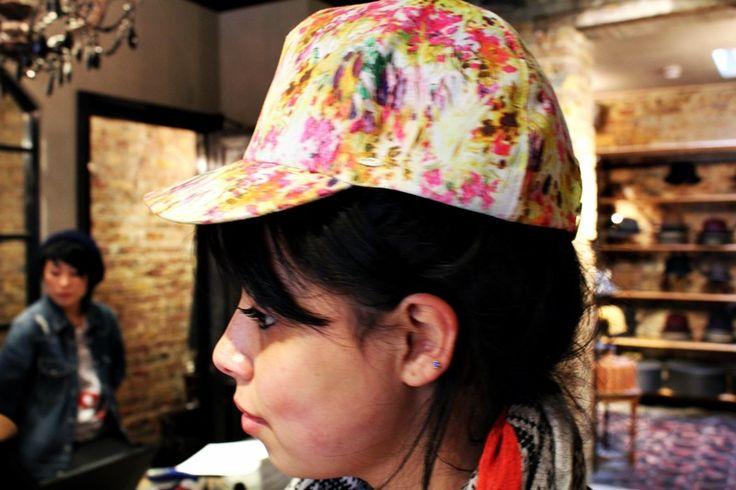 """Flowers power"" baseball cap #flowers #cap"