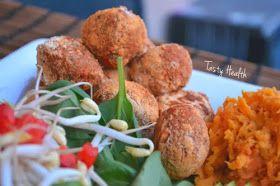 Tasty Health: Tonfiskbullar med sötpotatisstomp och vinn ekologisk snacksbox!