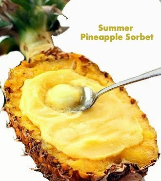 pineapple sorbetPineapple Sorbet, Sorbet Gefreshmi, Sweets Treats, Favorite Recipe, Sweets Tooth, Interesting Recipe