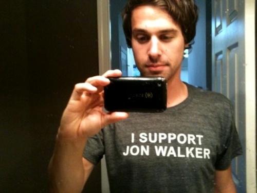 Jon Walker supports himself