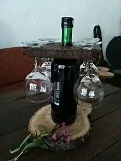 Ahşap şarap aparatı