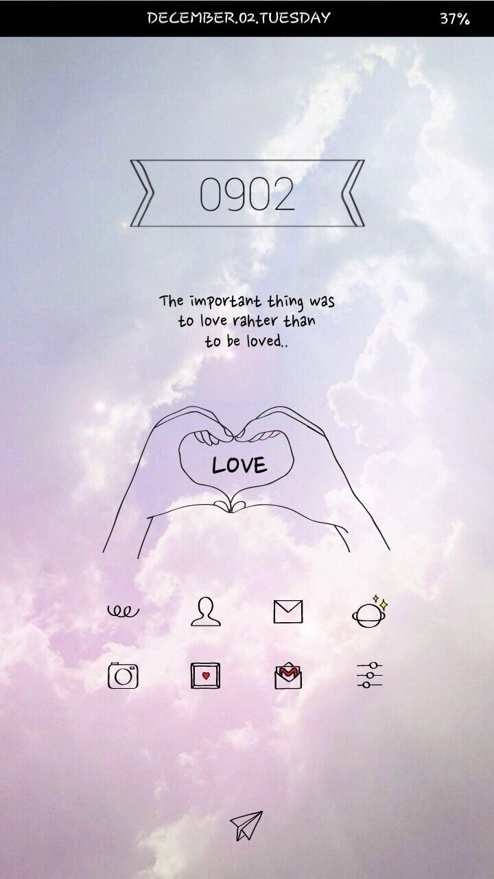[Homepack Buzz] Check out this awesome homescreen! 꼰 love homepack    #sky #love #romantic #sweet