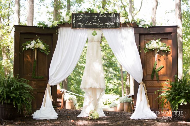 919-495-5397 Chapel-in-the-Woods.com located near Louisburg a few miles north of Raleigh, NC - Wedding Venue Signature Doors at http://chapel-in-the-woods.com/