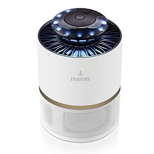 INOOMI Smart Light Control Mosquito Zapper Indoor - 6 W Power-saving Electronic Insect Killer with UV Light - Virtually Silent & Harmless Flying Insect Trap  NEW TECHNOLOGY - SMART LIGHT CONTROL - Open the light sensor probe, the zapper can automatically identify day and night according to the strength of the light, and then automatically open in the evening and shut down in the...