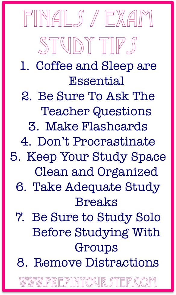 Finals / Exam Week Study Tips. good to remember since i'm headed back to school!