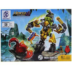LEGO Brick Seri Hero Factory 6 Star Soldier - Rocka Crawler :  - Paket termasuk 1 minifigure LEGO : Rocka - Dilengkapi Buku Panduan Perakitan yang detail dan mudah di mengerti - Produk bisa dikombinasikan dengan Produk Seri Hero 6 Star Soldier lainnya - Bahan High Quality ( Rapi dan Halus ) - Merek Bertoyindo - Merupakan mainan edukasi untuk meningkatkan daya kreativitas dan imajinasi - Untuk Model lain silahkan cek produk dan harganya di lapak kami : www.bukalapak.com/indosoccerstarz