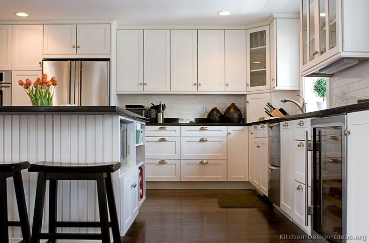 #Kitchen Idea of the Day: White kitchens brighten up the home.