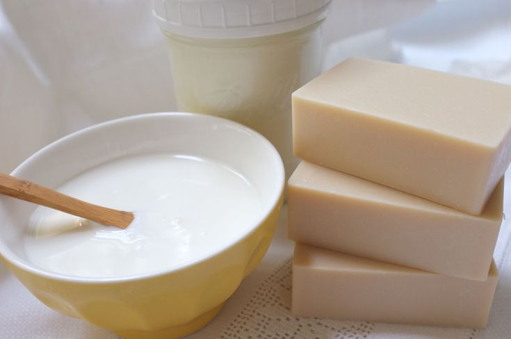 Homemade yogurt and yogurt soap- using yogurt instead of milk might be a good idea! Much less complicated