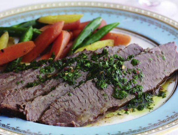 Argentinian Brisket With Chimichurri From 'Joy of Kosher'   Serious Eats