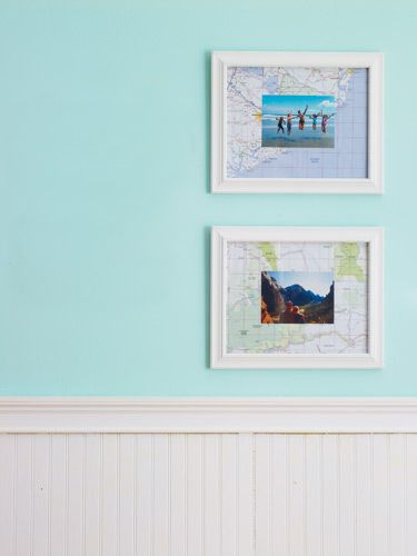 Maps make great backgrounds for matting #vacation photos. Click for the easy directions for this #craft