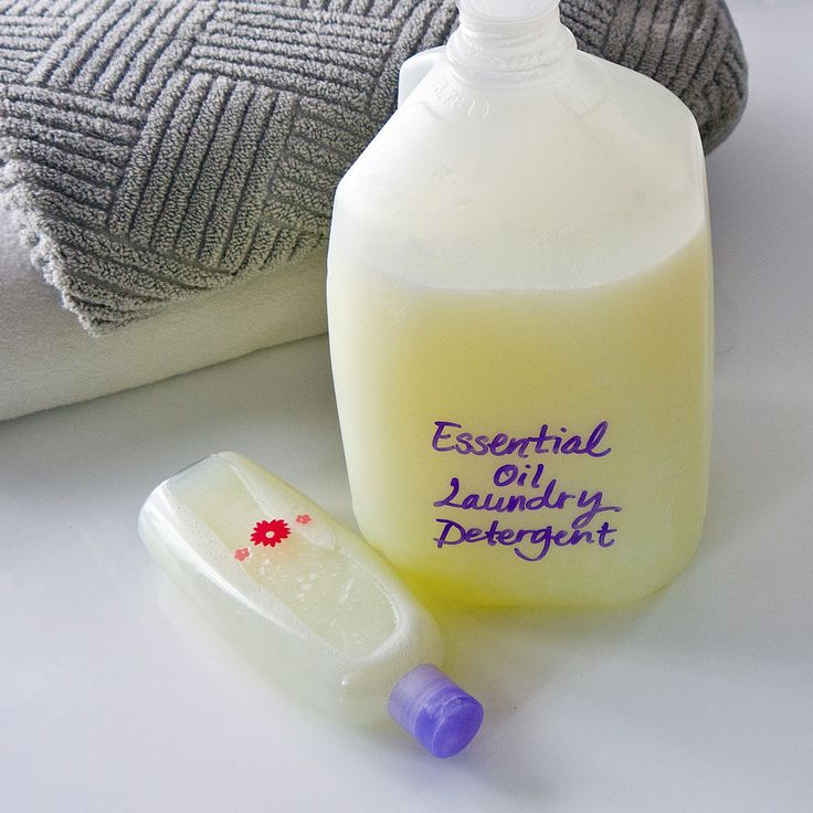 Smell Amazing With Essential Oil Laundry Detergent: Take basic DIY laundry detergent to a whole new level by adding your favorite essential oils.