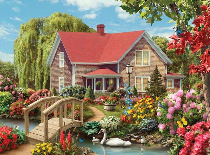 Collector 500pc - Country Hideaway Countryside Jigsaw Puzzle - Artist Alan Giana