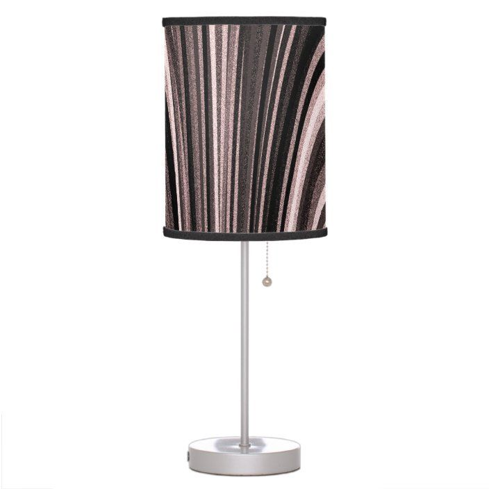 Champagne And Maroon Modern Art Table Lamp Zazzle Com Art Table Lamps Lamp Table Lamp
