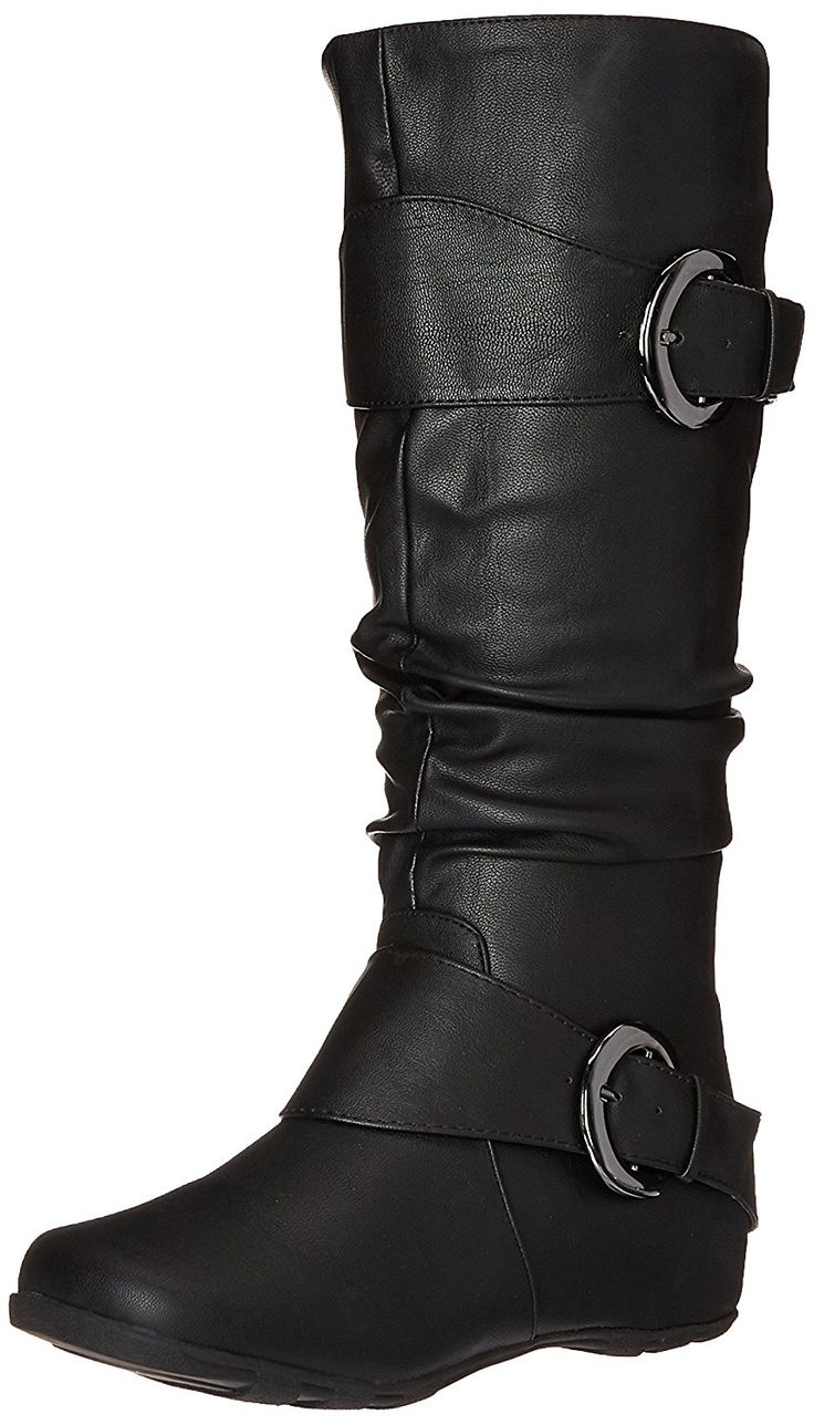 Brinley Co Women's Hilton Slouch Boot, Black -- Check out this great product.