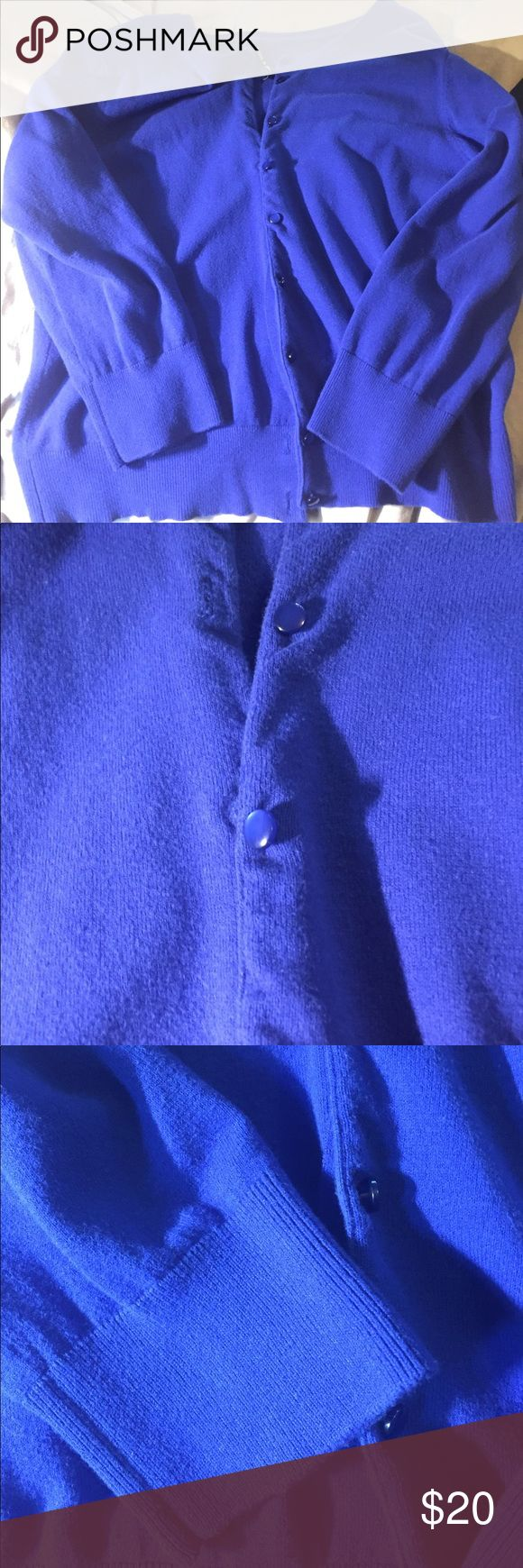 Gorgeous blue cardigan never worn from nord rack Never worn but I dry cleaned it so it will be nice and clean! Beautiful blue color! Perfect condition. Cable & Gauge Sweaters Cardigans