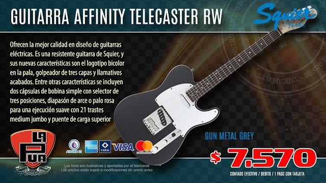 La Púa San Miguel: Guitarra SQUIER AFFINITY by FENDER Telecaster RW G...
