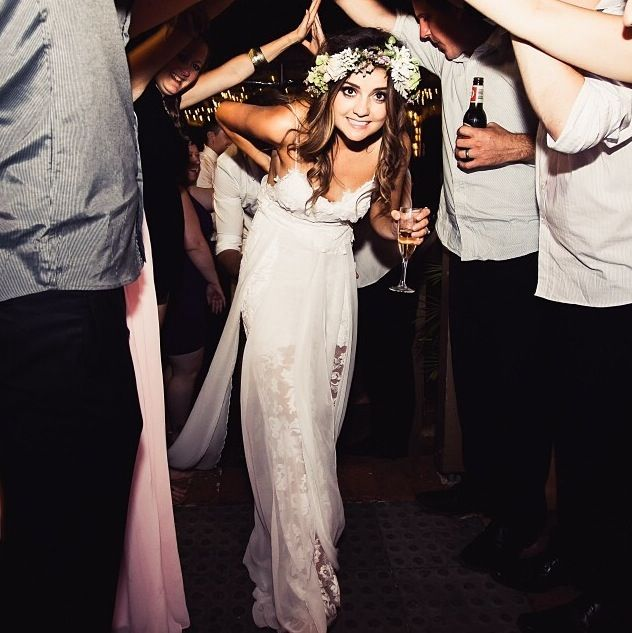 The Hollie Short Dress On One Of Our Stunning Brides Xx Lace Wedding By Grace Loves Perfect For Boho Beach Free Spirit Bride With St
