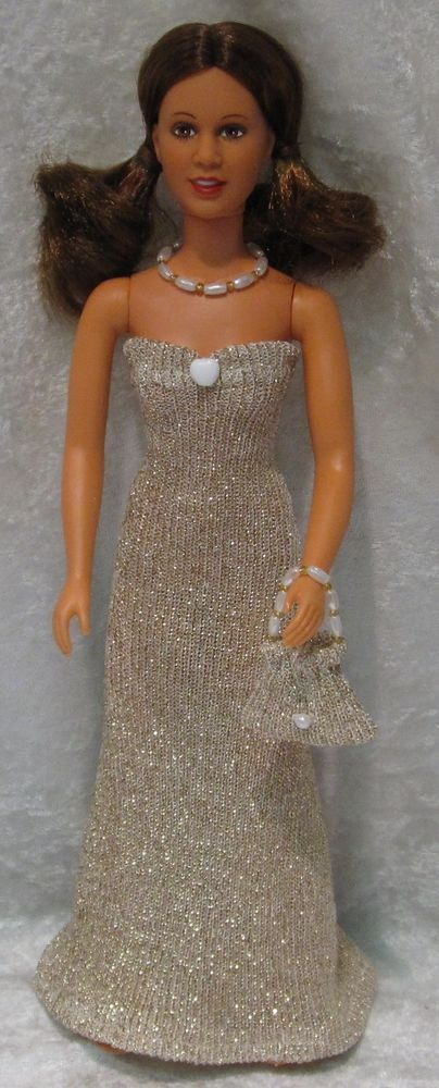 PRINCESS LEIA Star Wars Doll Clothes #18 Dress, Purse & Beaded Necklace Set #HandmadebyESCHdesigns