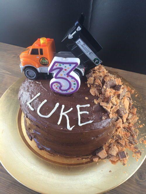 Easy Dump Truck Cake