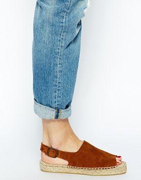 Image 4 ofBertie Jasmine Tan Suede Espadrille Flat Sandals
