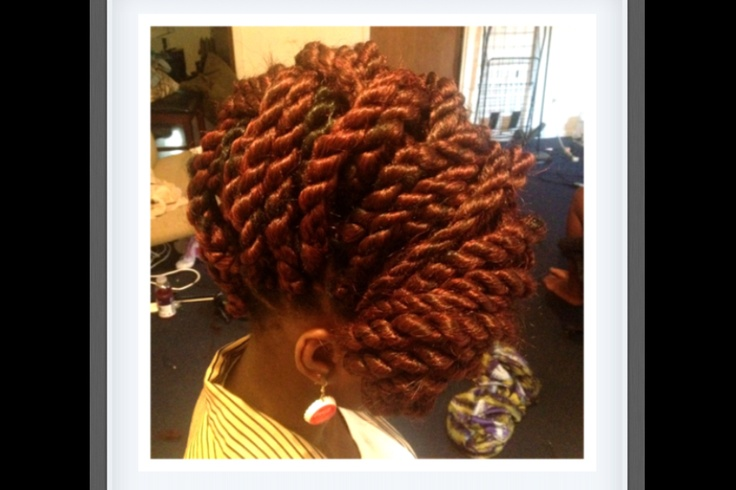 Whatever this is I like: Natural Beautiful, Black Hair, Copper Twists ...