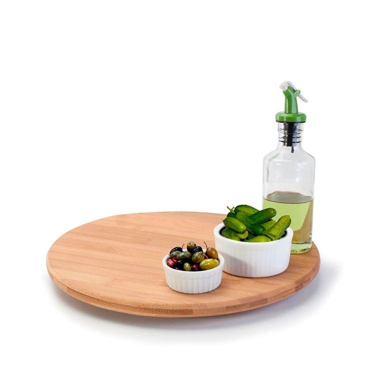Plateau tournant en bamboo - Gadgets de cuisine - Outils de cuisine - Cuisine
