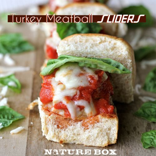 Turkey Meatball Sliders | Chew On This- brought to you by NatureBox!