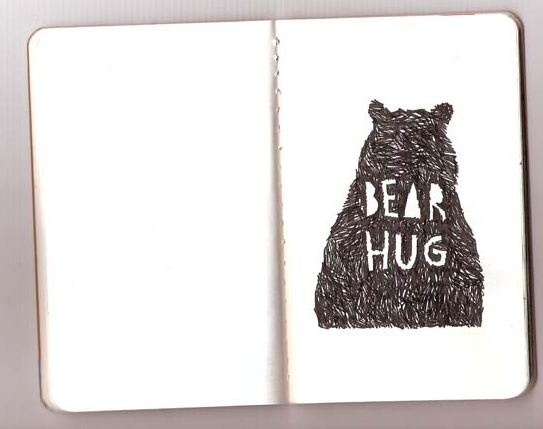 Bear HugBears Hug, Artwork Design, Art Explosions, Art Photos Inspiration, Illustration Sketchbooks, Favourite Bears, Bear Hugs, Jennings Collins, Illustrationer Pattern Collage