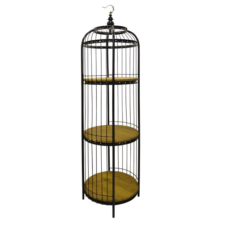 Bird Cage Rack - Big.The bird cage rack beautiful design offers both as a decorative item and 3 shelves for display.
