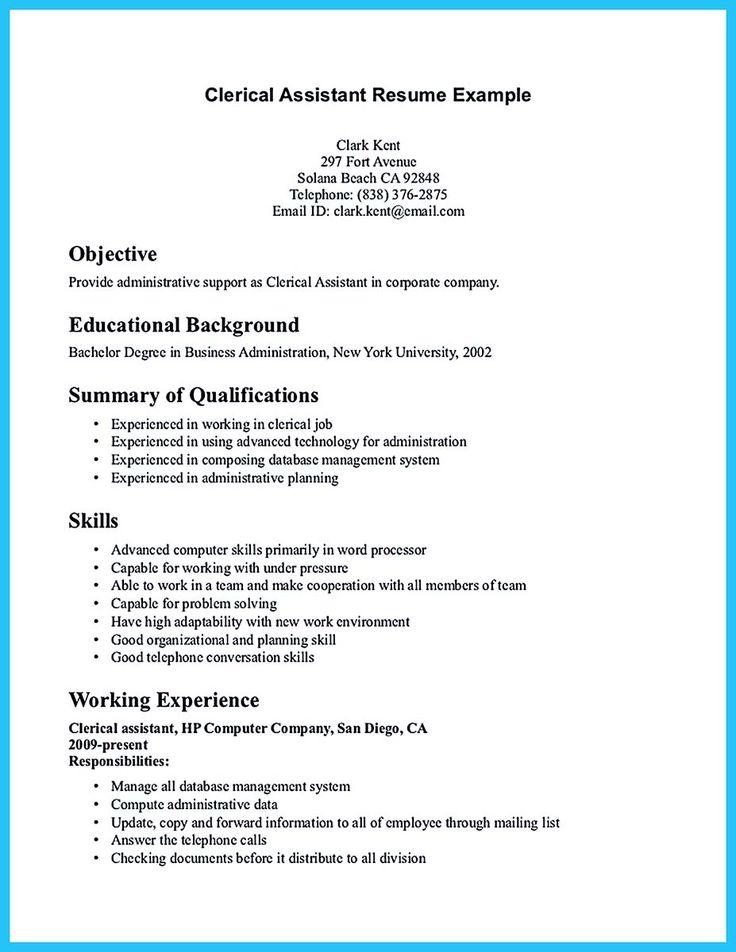 marine biologist resume sample httpresumesdesignmarine clerical sample clerical assistant resume examples of clerical resumes - Clerical Aide Sample Resume