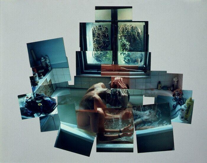 david hockney, photo collage