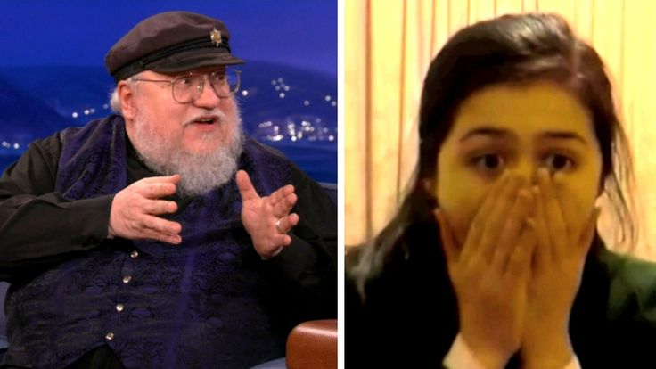 """George R. R. Martin Watches """"Red Wedding"""" Reaction Videos - How does the """"Game of Thrones"""" author react to fan freakouts? With chuckling delight. (CONAN on TBS)"""