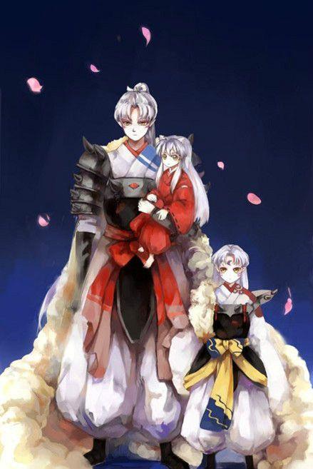 InuYasha, Sesshomaru and their father, Inu no Taisho