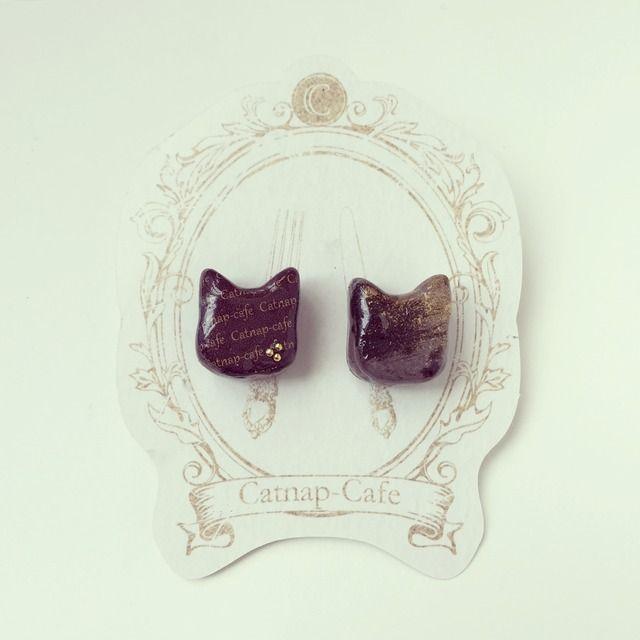 ねこショコラピアス...Catnap-cafe