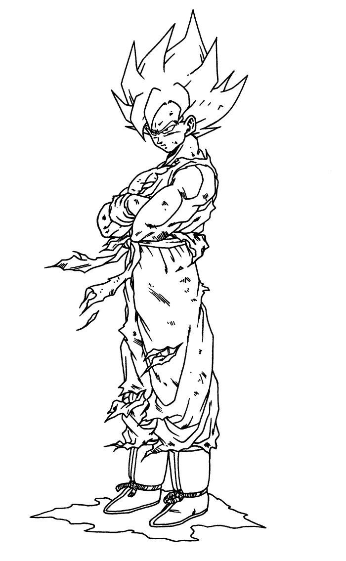 Goku Super Sainy 20 Free Coloring Pages