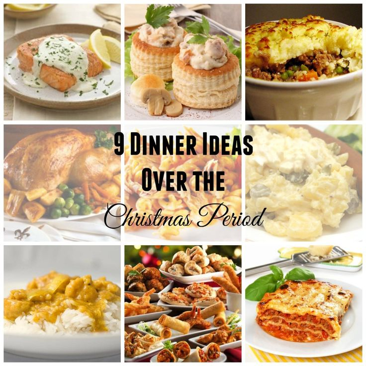 Dinner Ideas over the Christmas Period