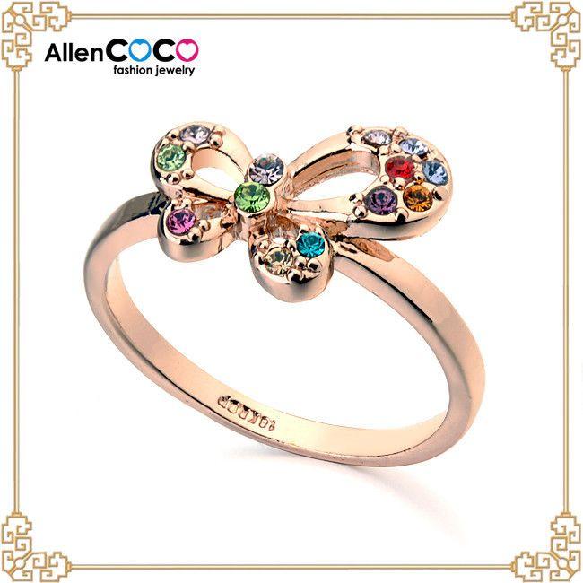 Мода обручальное кольцо с бабочкой для женщины животных с зубчатым венцом в китае оптовая продажа