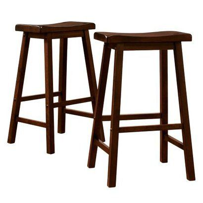Target Barstools --- Perfect for the new kitchen! Now I have to decide if I want to keep them brown, or paint them a fun color!!: Saddleback Stool, Barstools, Pk Scoop, Bar Stools, Kitchen, Saddles, Scoop Stools