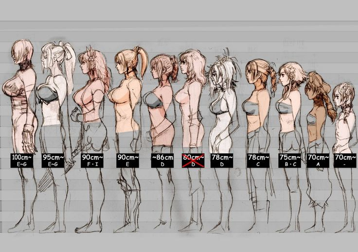 This is a chart documenting the boob size of every female character in Soul Calibur V.  This is official artwork.